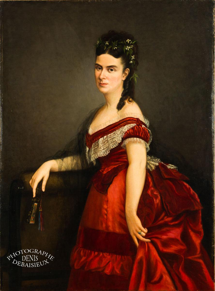 Portrait peint ancien.